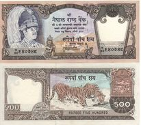 NEPAL   500 Rupees     P35d    ND  1985    Sign. 12     UNC - Nepal