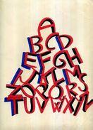 """X PROMO GRAFICA """"ALFABETO"""" 1997 TECNICA MISTA SU CARTA DISEGNO 24 X 33 FIRMA - Acrylic Resins"""