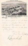 188. - BRISTOL (Grande-Bretagne)  PRODUCTEUR DE GRAINES DE JARDIN - D. LANDRETH & SONS - Documents Historiques