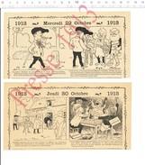 2 Scans Humour 1913 Aveugle Mendiant Mendicité Canne Blanche Aveugles Route De Fontainebleau Auberge à L'écu D'or 216PF9 - Zonder Classificatie