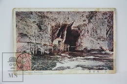 Old 1913 Japan Postcard - Gangutsu, Enoshima - Tokyo