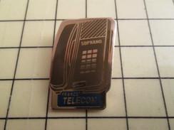 Pin616c Pin's Pins : Rare Et De Belle Qualité FRANCE TELECOM / TELEPHONE SOPRANO - France Telecom
