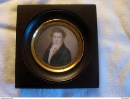 Miniature 1ère Moitié Du XIXème Siècle - Portrait D'homme - Other