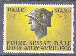 FOIRE SUISSE DE BALE 17 AU 27 AVRIL 1926 - - Erinnophilie