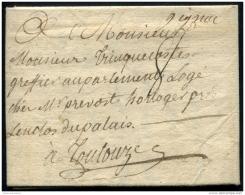 Lot N°8067 Courrier D'Autrefois - Lettre Avec GIGNAC Manuscrit Pour TOULOUSE 8 JUIN 1776 TB - Poststempel (Briefe)