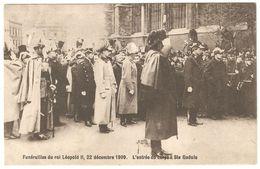 België / Belgique - Funérailles Du Roi Léopold II, 22 Décembre 1909 - L'entrée Du Corps à Ste Gudule - 1910 - Koninklijke Families
