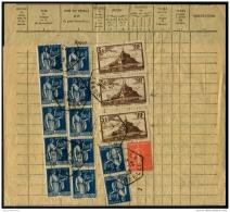 Lot N°8579 PROCES-VERBAL D'ENREGISTREMENT DES COMMUNICATIONS TELEPHONIQUES - Doc Impr Compl Manuscrit - Acquittées Avec  - Historical Documents