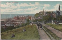 CPA ANGLETERRE FOLKESTONE  East Cliff - La Falaise à L'est 1908 - Folkestone