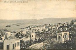 Liban : Italian Cruisers Leaving Beirut  Beyrouth - Liban