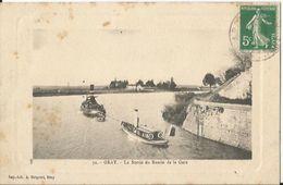 CPA - Gray - - La Sortie Du Bassin De La Gare - Bateau Remorqueur - Gray