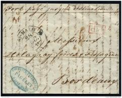 Lot N°9347 Acheminé - Lettre De SUNDERLAND Du 13 Déc 1841 Pour BORDEAUX Via ST MALO TB - …-1845 Préphilatélie