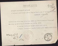 Télégramme Officiel Janvier 1945 Expédition Mines Et Fusées Anti Char Atelier Chargement Moulins Sur Allier Guerre 39 45 - WW II