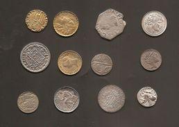 12 Monedas Mediavales Y De España Reproducciones - Fichas Y Medallas