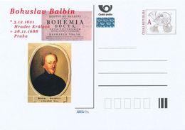 Tschech. Rep. / Ganzsachen (Pre2013/54) Bohuslav Balbin (1621-1688) Böhmischer Jesuit, Literat, Historiker Und Geograph - Sprachen