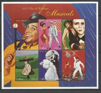 MALI 1997 MUSICALS CENTENARY  100 YEARS CINEMA SHEET FOGLIETTO MNH - Mali (1959-...)