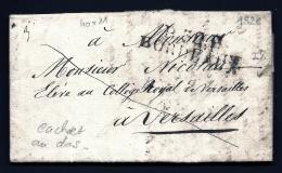 LETTRE PRECURSEUR FRANCE- MARQUE POSTALE : P.32.P.- BORDEAUX -  DE 1826 -  TAXE PP  DECIMES- 2 SCANS - 1801-1848: Precursors XIX