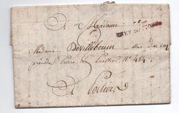 1819 - LETTRE écrite à LOUBILLE (DEUX SEVRES) Avec MP CHEF BOUTONNe 38x8 Pour POITIERS - Marcophilie (Lettres)