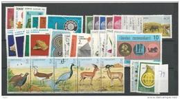 1979 MNH Turkije Türkei, Year Collection, Postfris - 1921-... Republiek