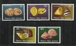 PAPUA NEW GUINEA NUOVA 1981 SHELLS CONCHIGLIE COMPLETE SET SERIE COMPLETA MNH - Papua Nuova Guinea