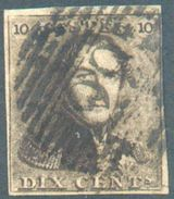 N°1 - Epaulette 10 Centimes Brune, TB Margée, Obl. P.29 COURTRAY .  TB  - 12308A  VL1099 - 1849 Epaulettes