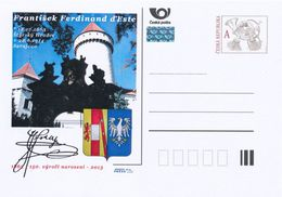 Tschech. Rep. / Ganzsachen (Pre2013/59) Franz Ferdinand (1863-1914) Erzherzog Von Österreich-Este, Schloss Konopiste - 1. Weltkrieg