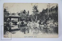 Old 1913 Japan Postcard - Lake Temple - Nagoya - Japón