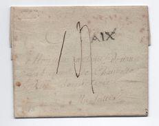 1787 - LETTRE D'AIX EN PROVENCE (BOUCHES DU RHONE) Avec MP LENAIN N° 12 - 1701-1800: Precursors XVIII