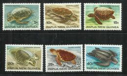 PAPUA NEW GUINEA NUOVA 1984 TURTLES TARTARUGHE COMPLETE SET SERIE COMPLETA MNH - Papua Nuova Guinea