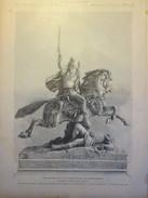 Gravure D Epoque    1886  La Statue De Vercingétorix   Bartholdi  Henri Meyer  Clermont Ferrand - Estampes & Gravures