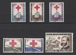 BELGIQUE. YT  1096/1101 Obl  Centenaire De L'idée Croix-Rouge 1959 - Used Stamps