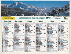 Almanach Du Facteur  1994 OLLER  - AISNE 02  - Gabizos Et Payolle (65) - Big : 1991-00