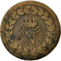 France, Napoléon I, Decime, 1814, Strasbourg, TB, Bronze, KM:700, Gadoury:195b - France