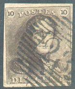 N°1 - Epaulette 10 Centimes Brune, TB Margé, Oblitéré P.28 CINEY.  TB - 12315A  VL1461 - 1849 Epaulettes