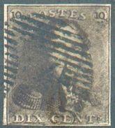 N°1 - Epaulette 10 Centimes Brun Foncé, TB Margé TB - 12316A - 1849 Epaulettes