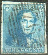 N°2 - Epaulette 20 Centimes Bleue , TB Margé, Obl. P.76 LOUVAIN.  Superbe.  - 12319A - 1849 Epaulettes