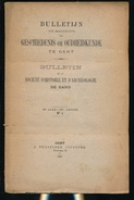 GESCHIED & OUDHEIDKUNDE TE GENT N° 1 TOT 7 - 1897 -   BLZ 1 TOT 240 - 23X15CM  7 SCANS - History