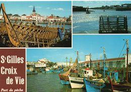 Saint-Gilles-Croix-de-Vie Belle Multi-vues Le Port Bateaux De Pêche - Saint Gilles Croix De Vie