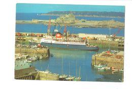 Cpm - ST HELIER HARBOUR - JERSEY - Port Bateaux Grue - Piroscafi