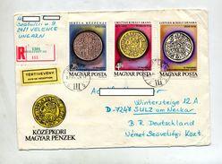 Lettre Recommandee Budapest Sur Monnaie  Cavalier - Postmark Collection