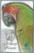 SG.- SINGAPORE TELECOM. $ 10. - Military Macaw. JURONG BIRDPARK. - 104SIGB -. 2 Scans. - Papegaaien & Parkieten
