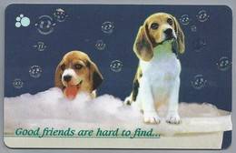 SG.- SINGAPORE TELECOM. $ 10. - Good Friends Are Hard To Find....- 133SIGA -. 2 Scans. - Honden