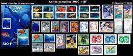 POLYNESIE Année Complète 2009 + BF - Yv. 862 à 897 + BF 35 **  - 39 Timbres ** MNH  ..Réf.POL23244 - Années Complètes