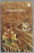 SG.- SINGAPORE TELECOM. $ 5. - Loving Means Sharing ...... - 145SIGC -. 2 Scans. - Honden