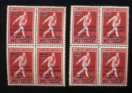 1960   Paire Des 135/136   En Blocs De 4      Cote  160 E - Private & Local Mails