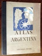 MAGNIFIQUE ATLAS COULEUR- ARGENTINE 1945- UN DOCUMENT EXCEPTIONEL DE GRANDE QUALITÉ- 18 SCANS - Geography & Travel