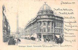 Angleterre - Newcastle On Upon Tyne - Grainger Street - Rue Grainger 1901 - Newcastle-upon-Tyne