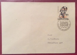 TEMATICA CICLISMO  CECOSLOVACCHIA  BUSTA CON  FRANCOBOLLO ED ANNULLO SPECIALE  1963 - Cyclisme