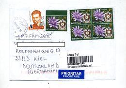 Lettre Recommandee Suceava Sur Fleur Horloge - Marcophilie - EMA (Empreintes Machines)