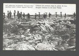 Duitsch Oost Afrika / Est Africain Allemand - Belgische Bezetting / Occupation Belge - Dragers Colonne In De Lava Vlakte - Rwanda