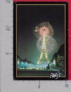 CARTOLINA VG FRANCIA - PARIS - La Tour Eiffel - 10 X 15 - ANN. 1991 Rue MOUFFETARD - Tour Eiffel